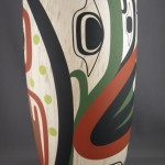 """The first of my pieces painted by Steve in a frog theme. Approximately 16"""" tall."""